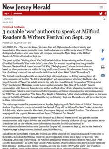 New Jersey Herald War Authors