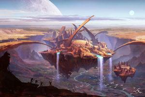 sci-fi fantasy background