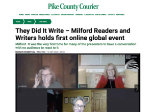 09-16-2020 Pike County Courier Milford Readers and Writers Online Festival